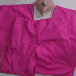 small womens pink  work wear scrub pants size
